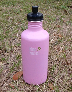 My stainless steel Klean Kanteen 40oz. bottle has been on many trails!