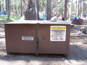 Bear box at our Tuolumne Meadows campsite 2013